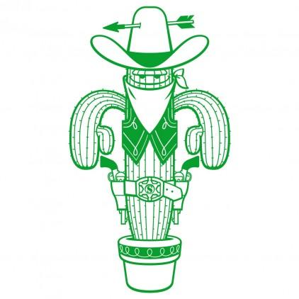 sticker enfant shérif cowboys xl