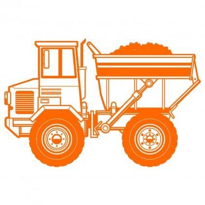 dump truck xxl construction kids wall decal