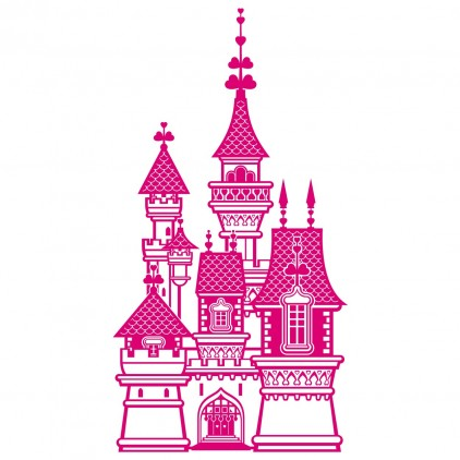 xxl princess castle kids wall decal