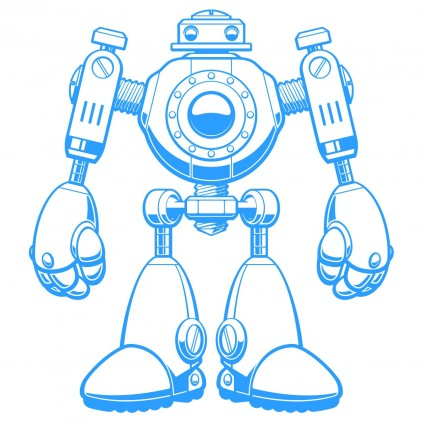 sticker enfant robots xxl
