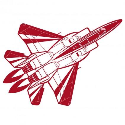 sticker enfant avions chasse mirage xxl