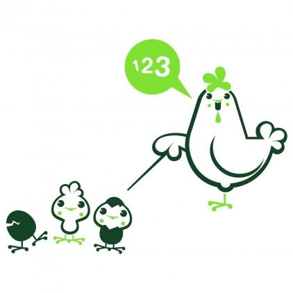 stickers enfant animaux ferme maman poule