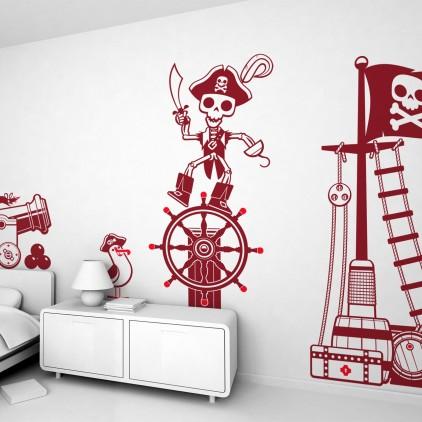kit stickers enfant garçon pirates corsaires marins