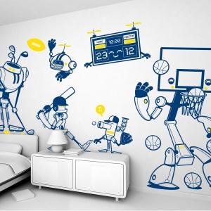 Stickers Robots Pour Une D Co Murale De Chambre Enfant Gar On