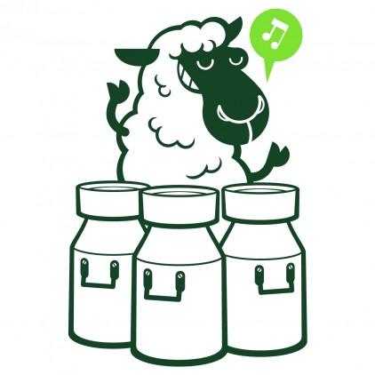 sheep farm animals kids wall decals