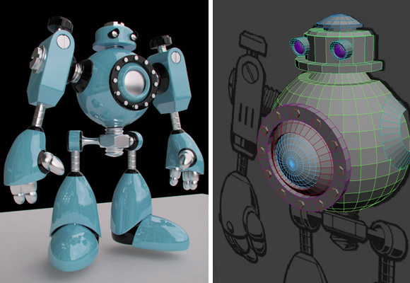 3D Robot Toy by E-Glue design studio for kids