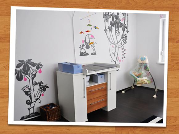 E-GLUE WALL DECALS // giga-kit :: tutti frutti - graphite grey & soft pink