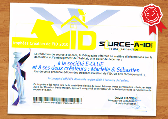 SOURCE A ID // e-glue's award