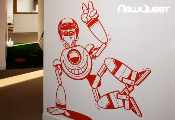 E-GLUE GIANT WALL DECAL FOR NEWQUEST AGENCY