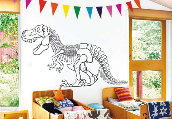 Dinosaur T-Rex wall decals for kids room and boys room