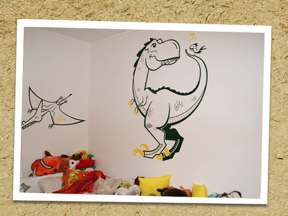 E-GLUE GIANT WALL DECALS // dinosaur time themed pack for kids room
