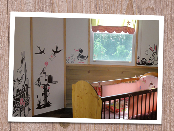 E-GLUE WALL DECALS // little piece of Heaven pack of baby kids wall stickers