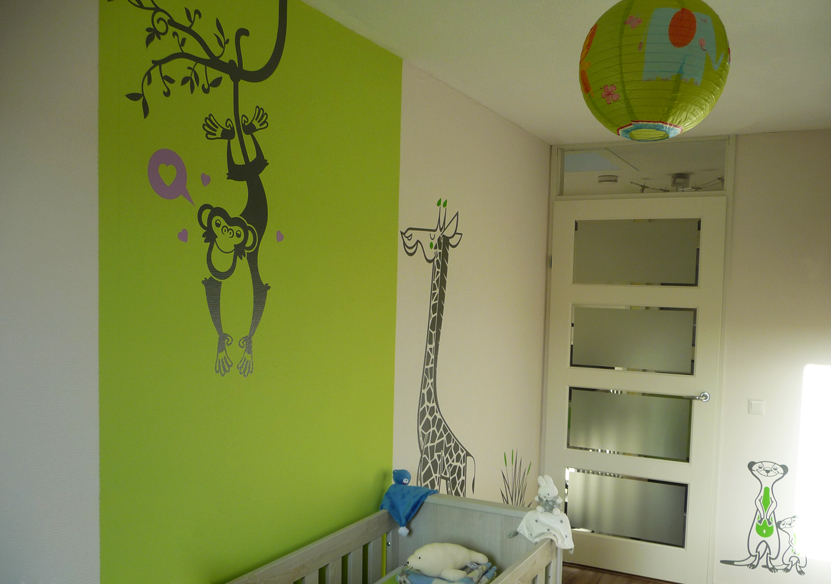 quelques stickers e glue pour une chambre d 39 enfant savane r. Black Bedroom Furniture Sets. Home Design Ideas
