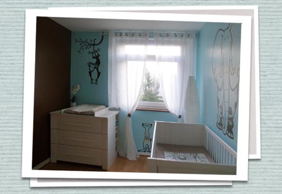 E-GLUE GIANT WALL STICKERS // lovely uma ! savannah themed room decor