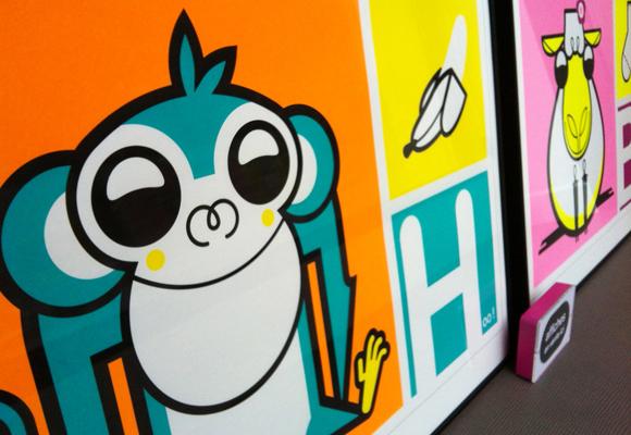 E-GLUE STUDIO // new silkscreen prints for kids room