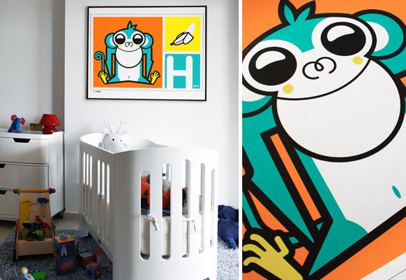 E-GLUE DESIGN STUDIO FOR KIDS // 'banana sweet' poster for children's room