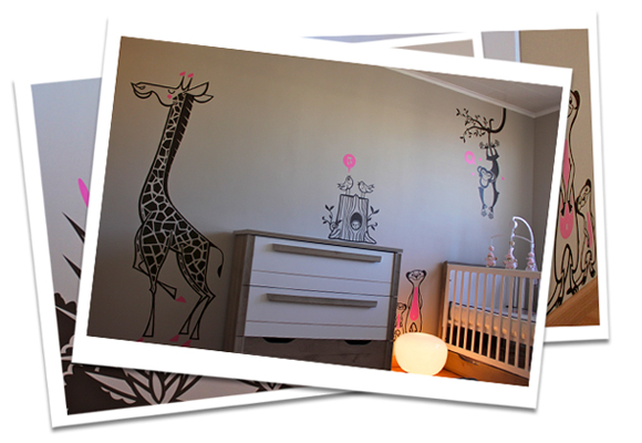 E-GLUE WALL DECALS FOR KIDS // savannah wall stickers