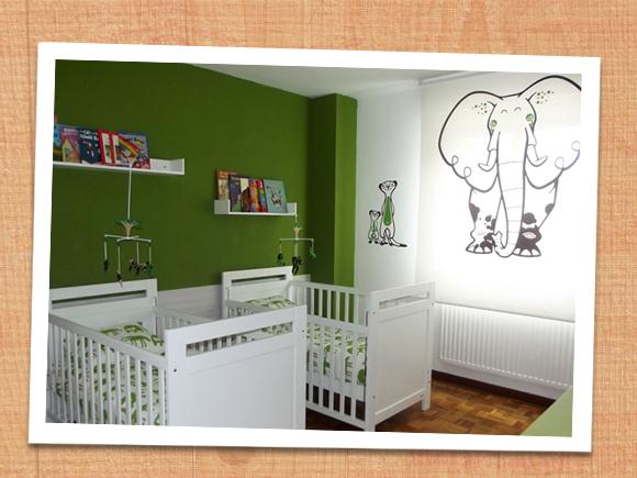 e glue stickers enfants palette de couleurs blanche verte. Black Bedroom Furniture Sets. Home Design Ideas