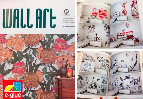 les stickers e-glue dans la publication Wall Art