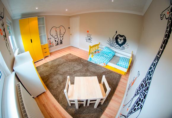 kit de stickers muraux E-Glue pour chambre enfant thème savane