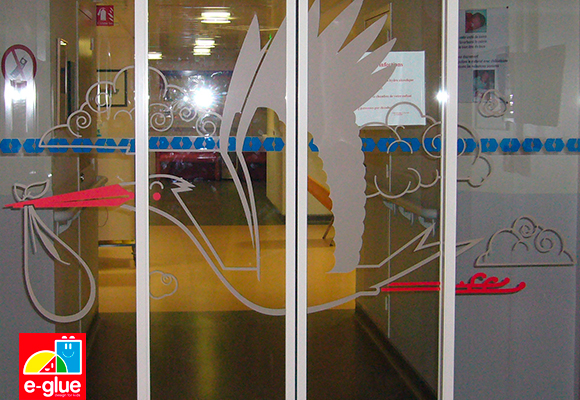 E-Glue wall decals for Neonatal care unit of Rennes Hospital