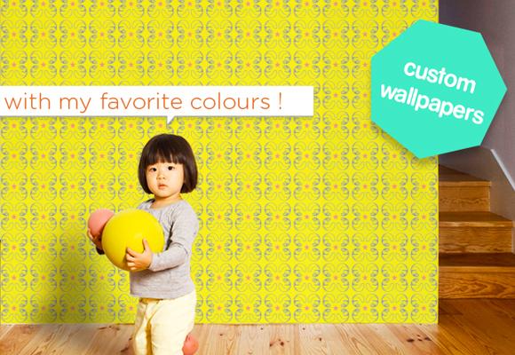papier-peints personnalisés e-glue pour chambres bébés