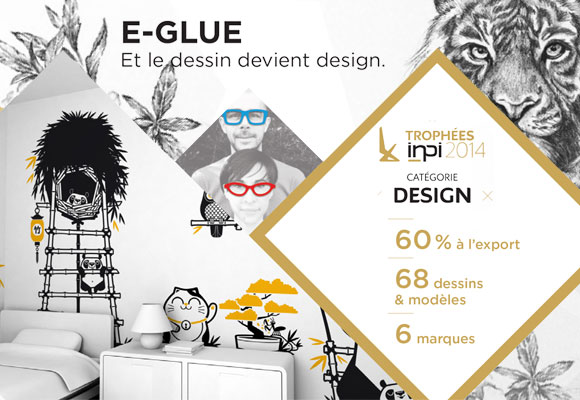e-glue kids wall decals, talent INPI 2014 category Design