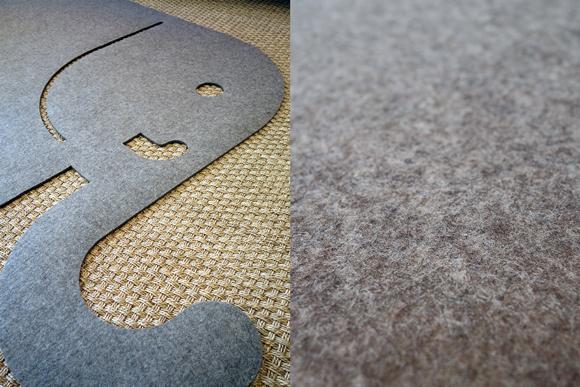 elephant shape felt rugs for kids room