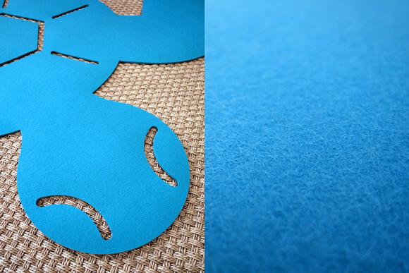 Alfombra tortuga de fieltro para habitación infantil por E-Glue