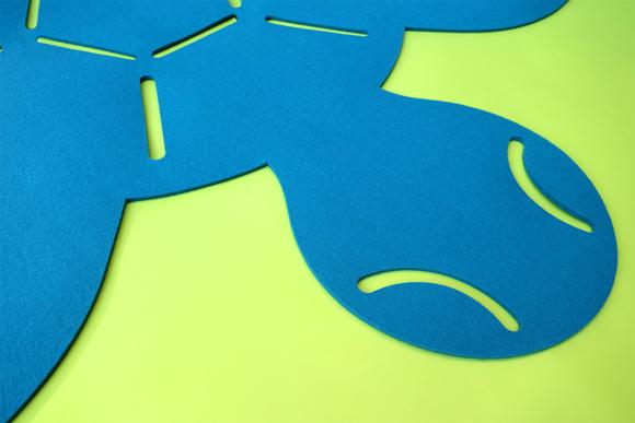 Alfombra tortuga de fieltro para dormitorios infantiles por E-Glue