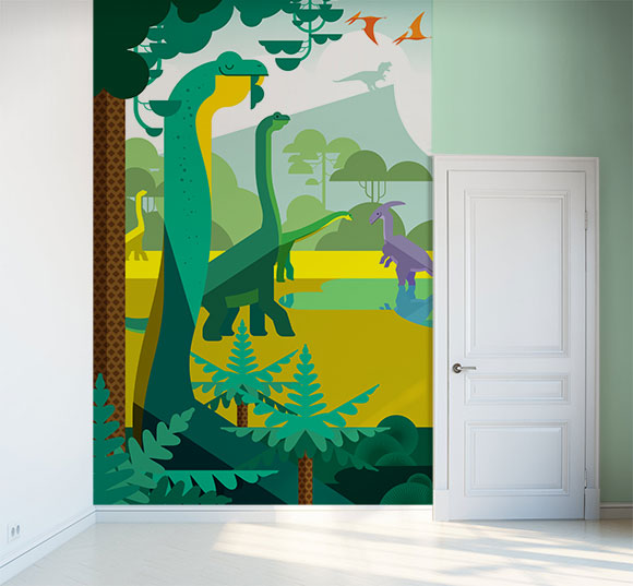 poster mural dinosaure xxl papier peint enfants. Black Bedroom Furniture Sets. Home Design Ideas