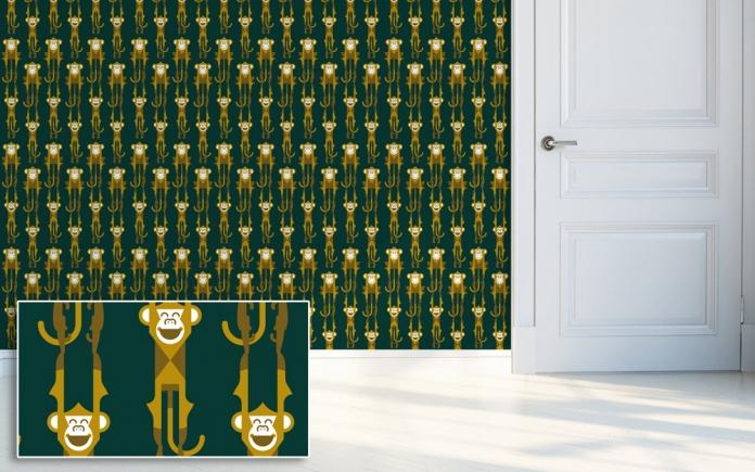 Ideas deco, Papel Pintado Dormitorio Bebé Selva por el estudio diseño E-Glue