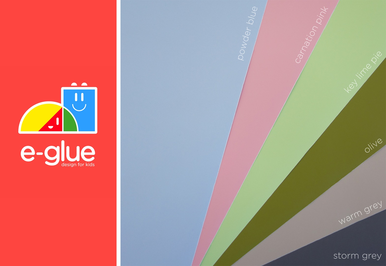 New colors for your kids wall decals E-Glue !