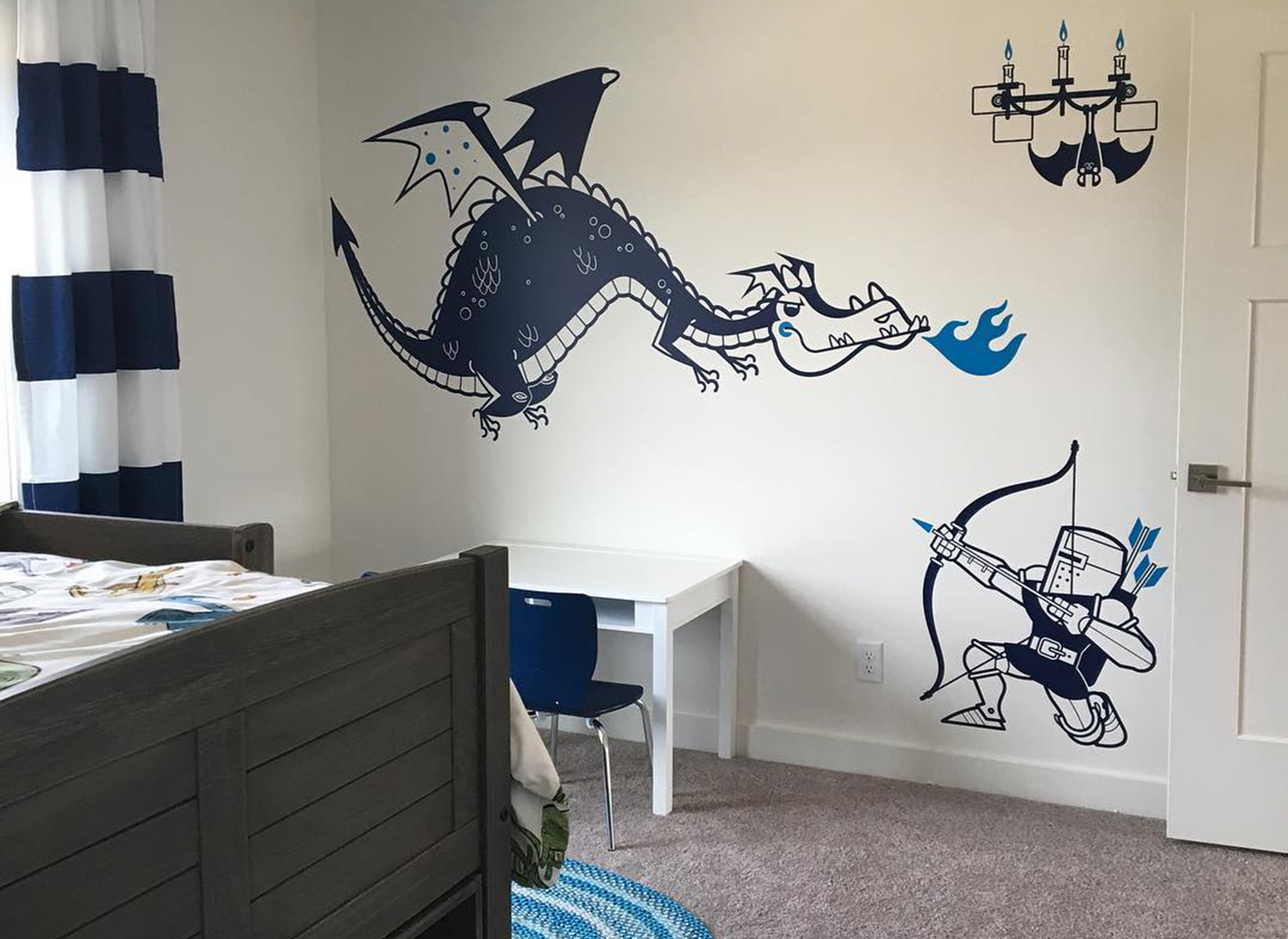 knights and dragon wall decals for kids room
