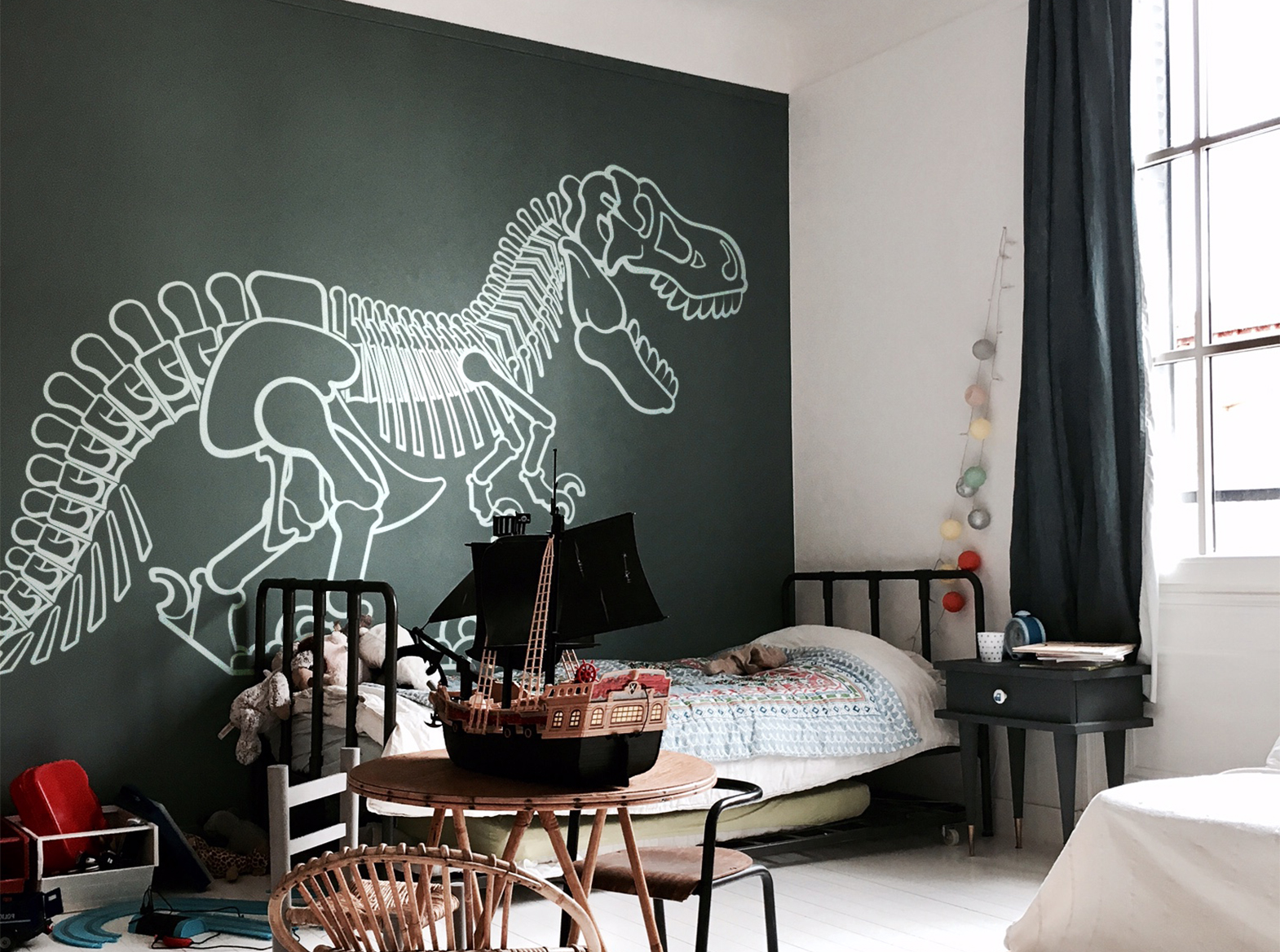 grand stickers dinosaure T-Rex par E-Glue design
