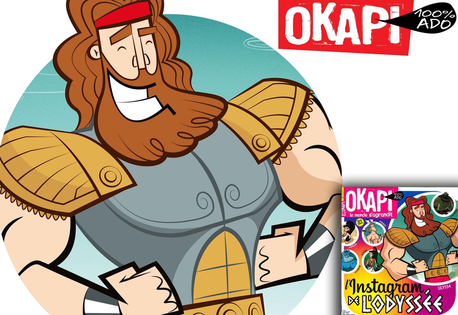 Odysseus Instagram for Okapi 1074 issue by E-Glue design studio