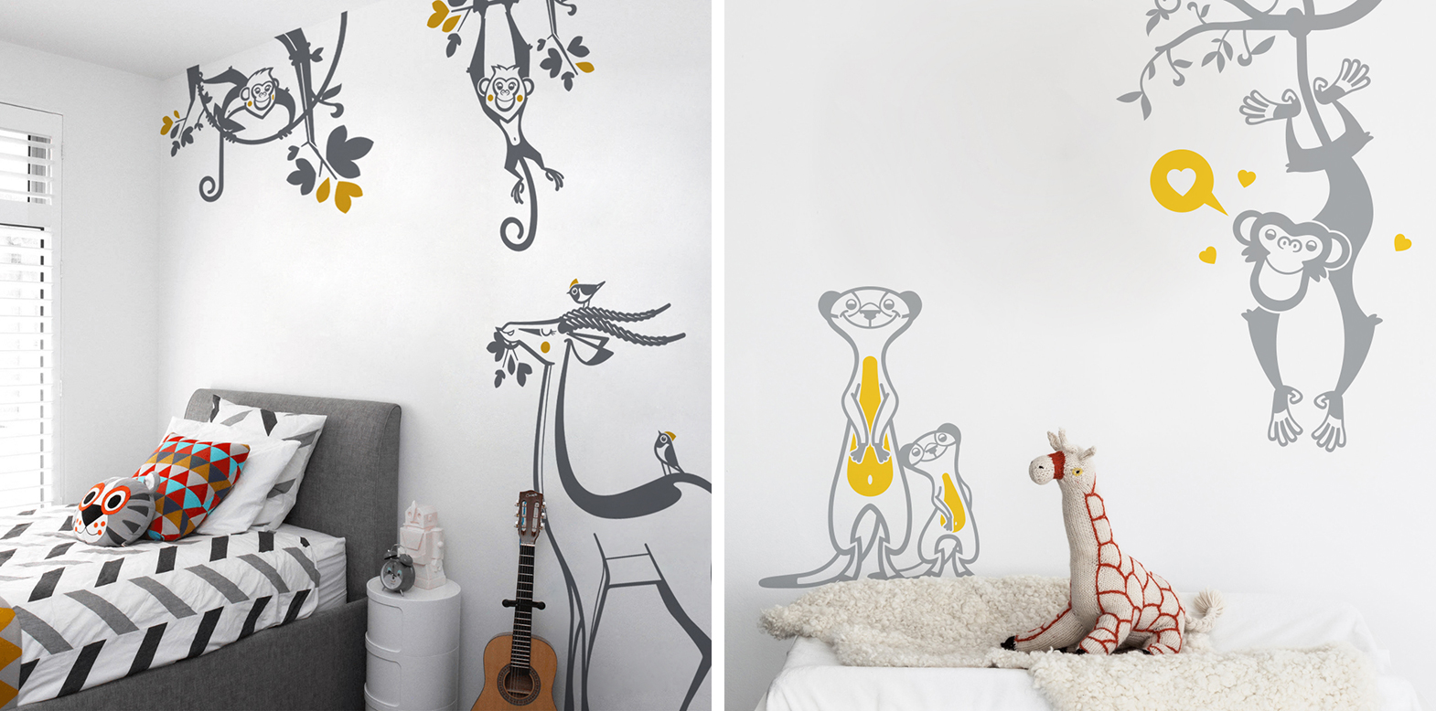 stickers chambre enfant jungle par E-Glue