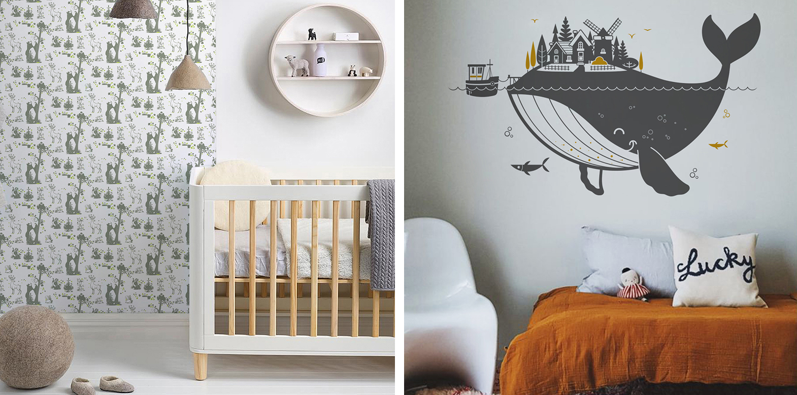 modern kids room wall stickers by E-Glue