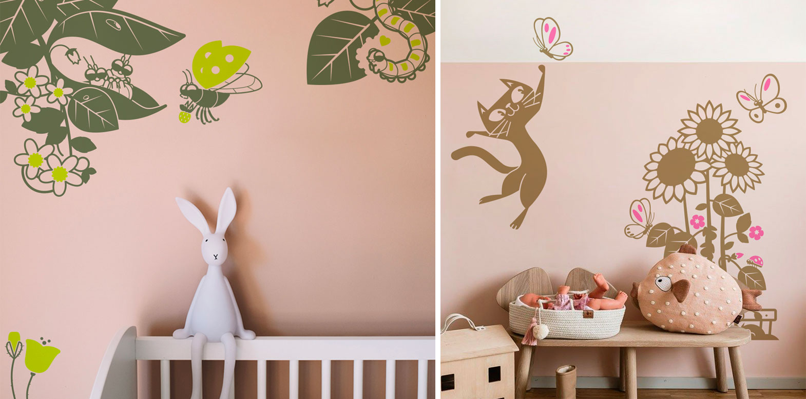 E-Glue wall decals for kids room theme nature