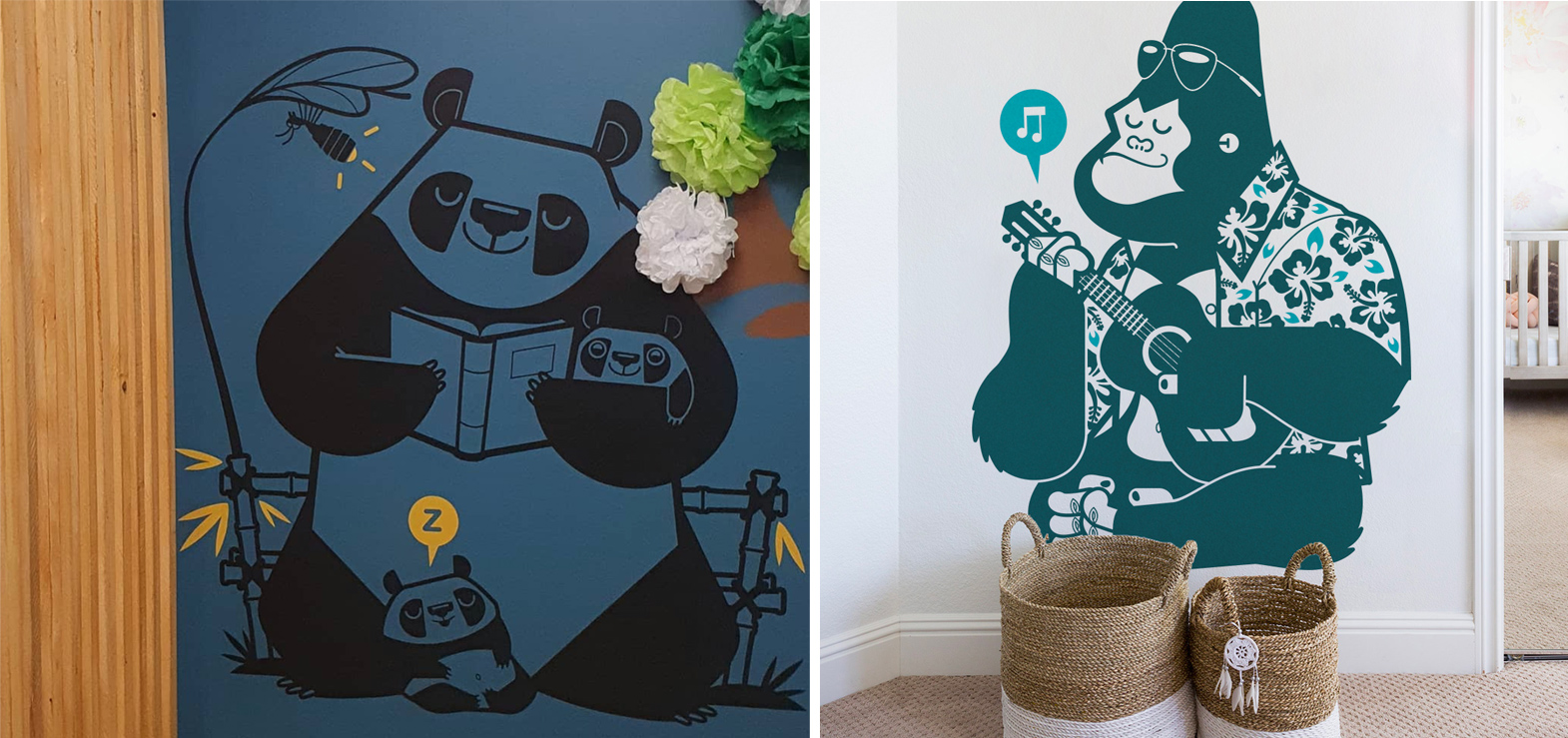 original and custom wall decals for kids by E-Glue