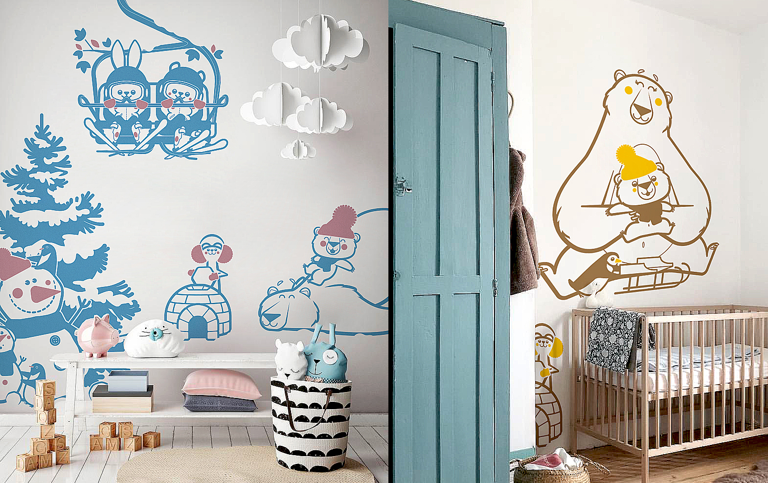 arctic animals wall stickers by E-Glue design