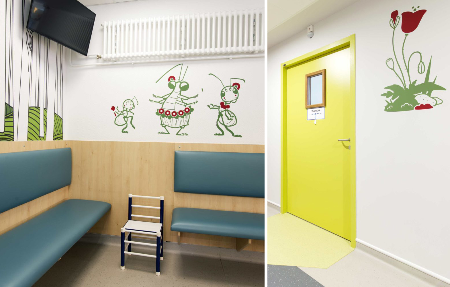 Children's Hospital Decoration with E-Glue Kids Wall Decals