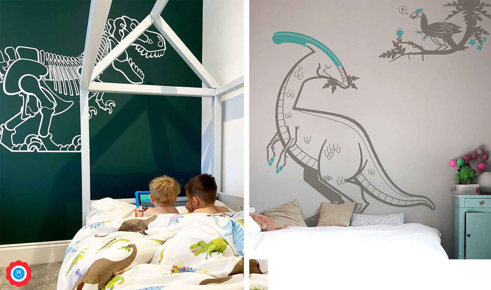 t-rex dinosaur wall decals designed by E-Glue Design