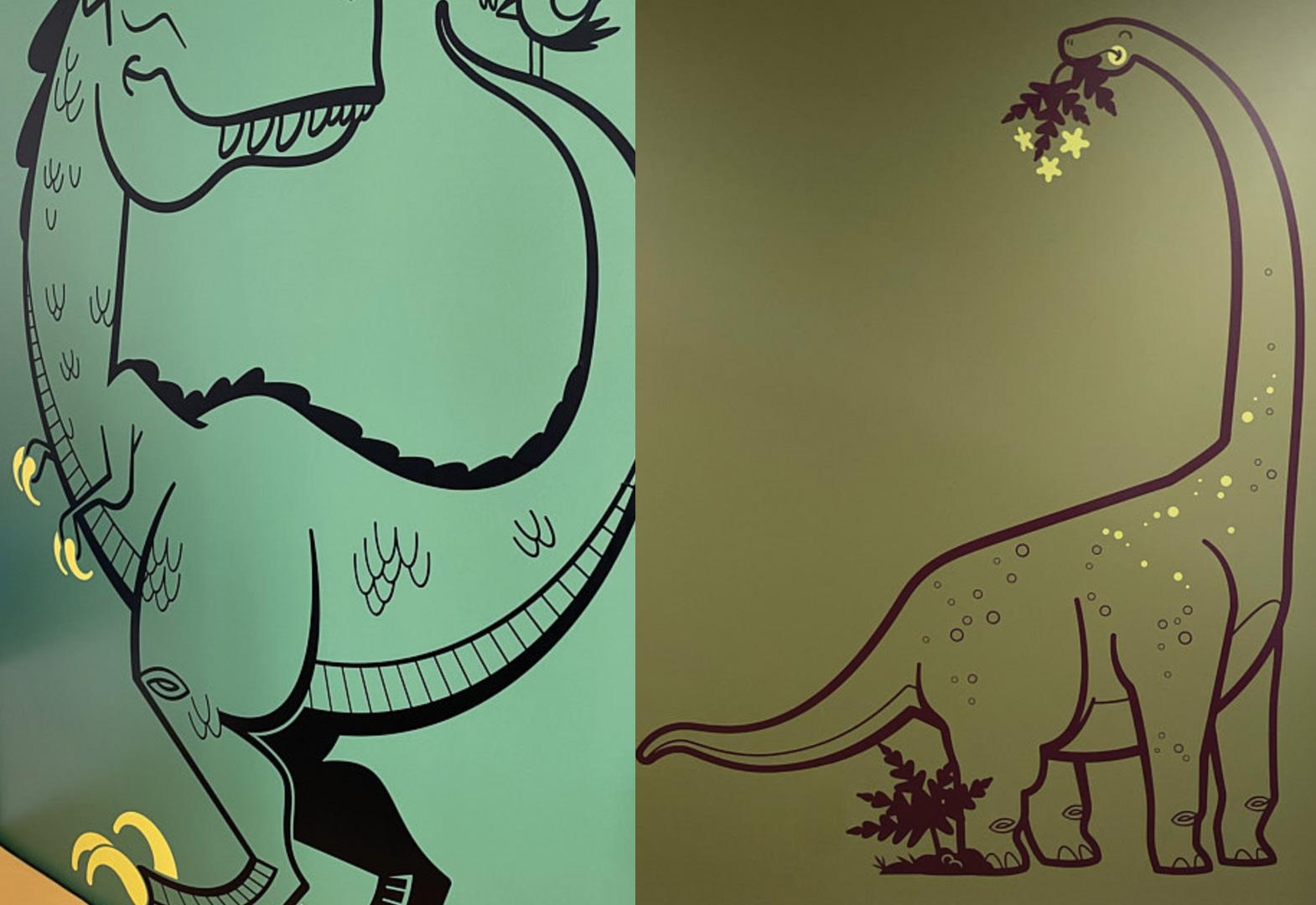 dinosaur wall decals by E-Glue Design