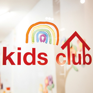 E-Glue kids wall decals for EQUINOX fitness clubs