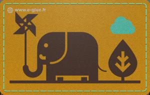 carte cadeau éléphant