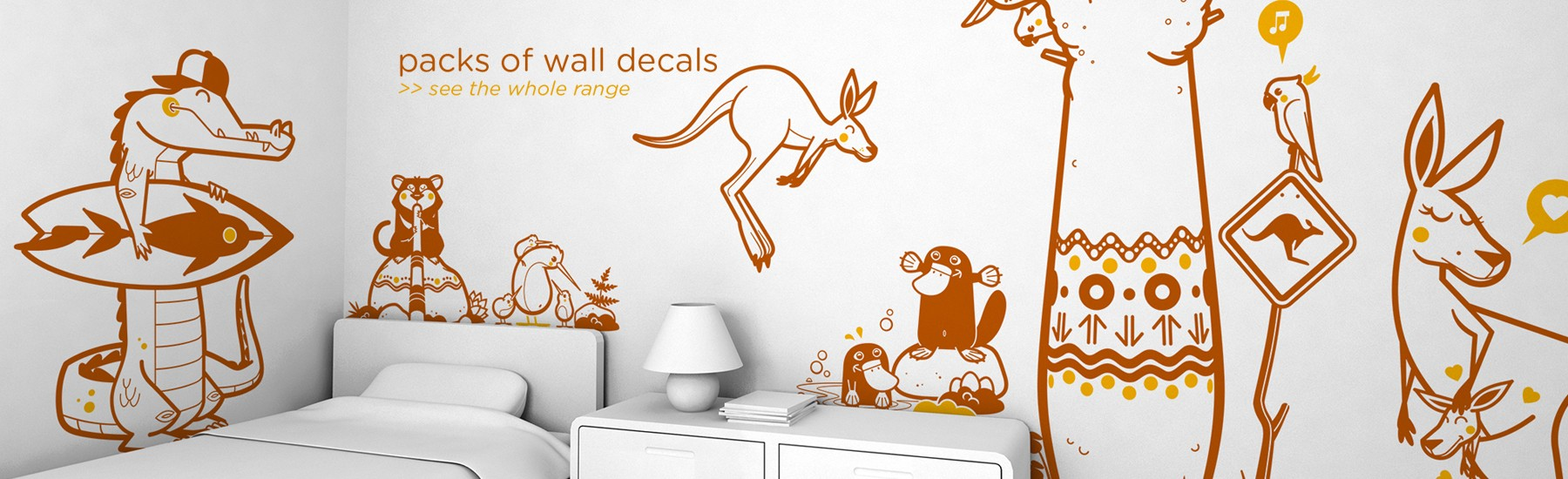 PACKS OF KIDS WALL DECALS
