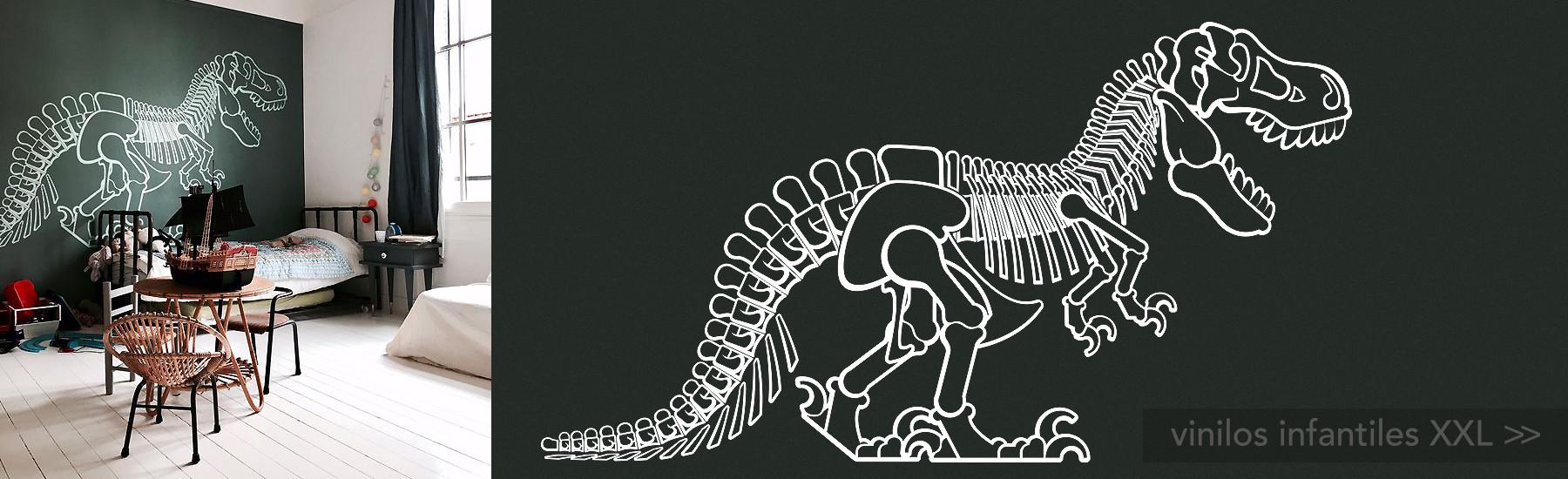 vinilos infantiles dinosaurio t-rex XXL, decoración de pared niños