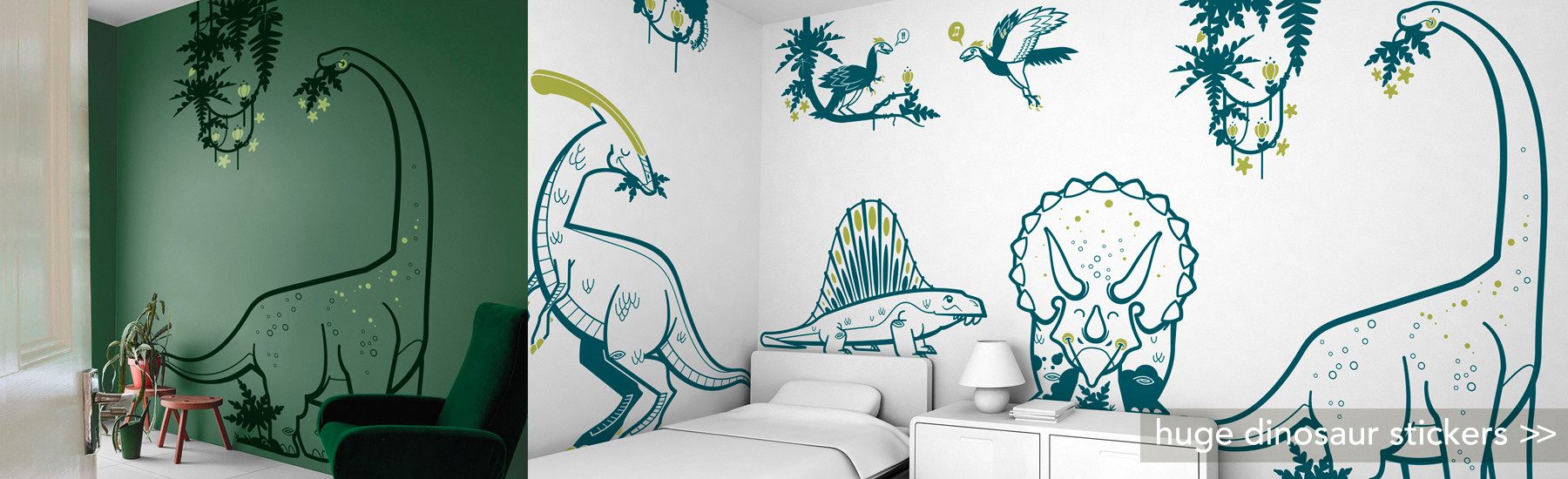 Best XXL dinosaur kids wall decals, kids room wall stickers