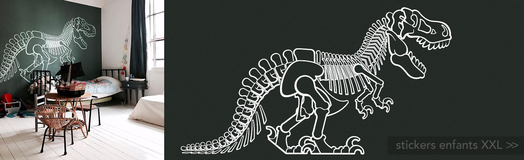 stickers enfant dinosaure t-rex géant XXL, décoration murale garçon